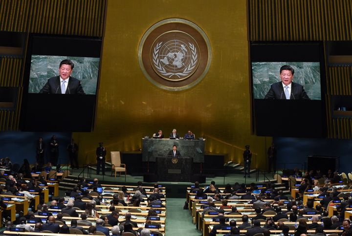 """Xi urged world leaders to """"reject the outdated mindset that one's gain means the other's loss."""""""