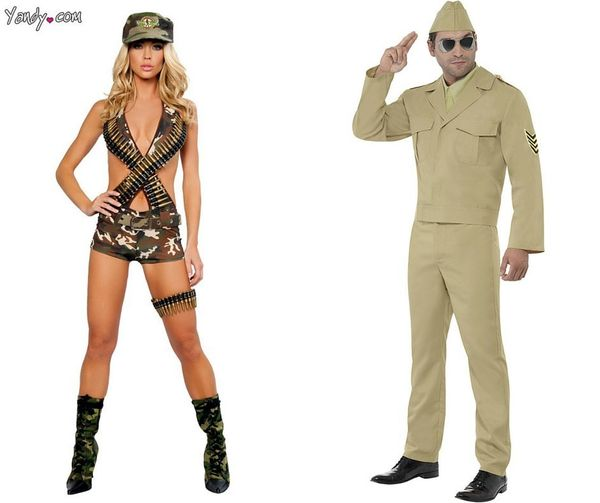 """<a href=""""http://www.yandy.com/Military-Babe-Costume-4290.php"""">Women's</a><br><a href=""""http://www.yandy.com/Mens-Sexy-Army-Her"""