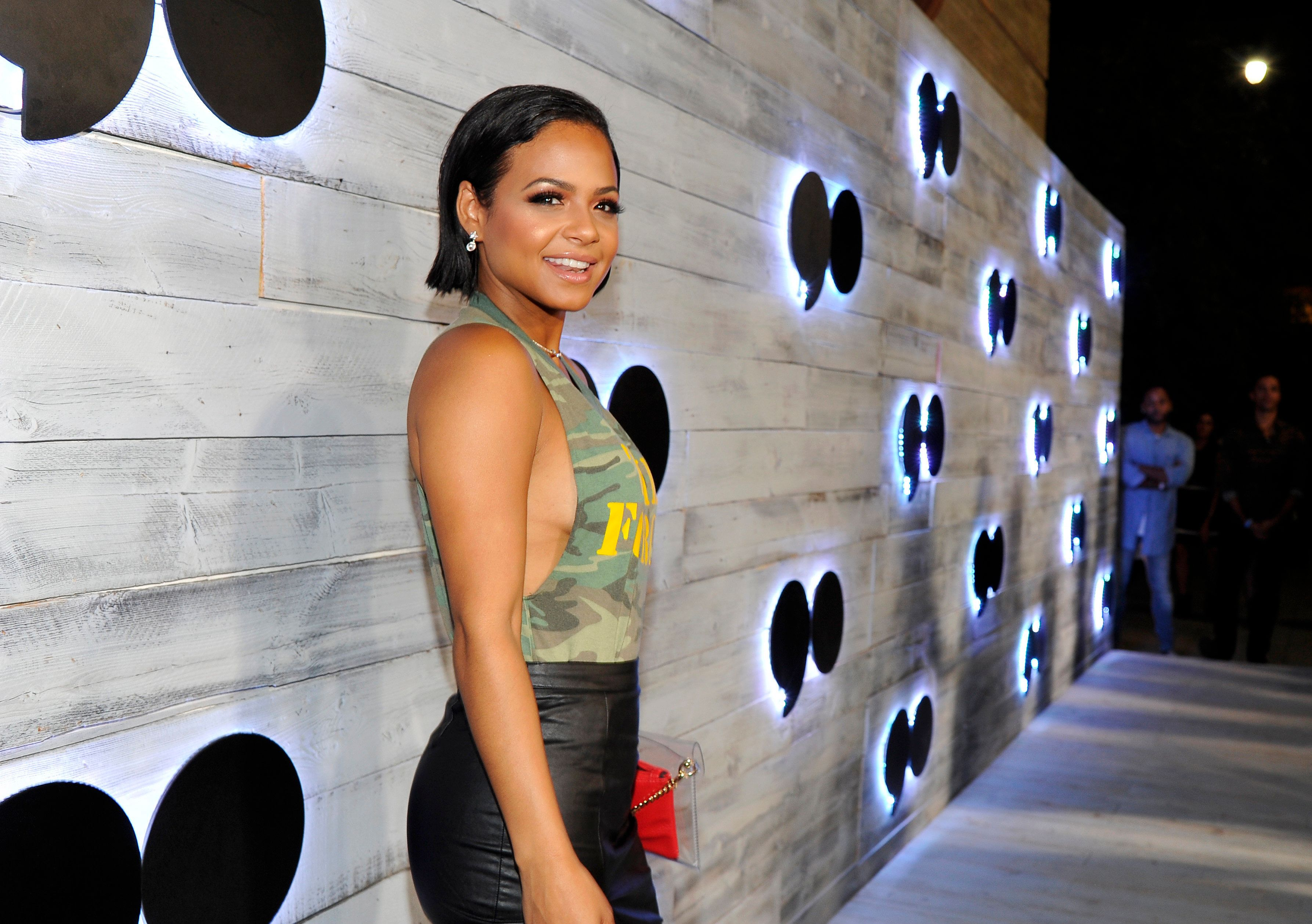 LOS ANGELES, CA - SEPTEMBER 24:  Singer Christina Milian attends the VIP sneak peek of the go90 Social Entertainment Platform at the Wallis Annenberg Center for the Performing Arts on September 24, 2015 in Los Angeles, California.  (Photo by John Sciulli/Getty Images for go90)