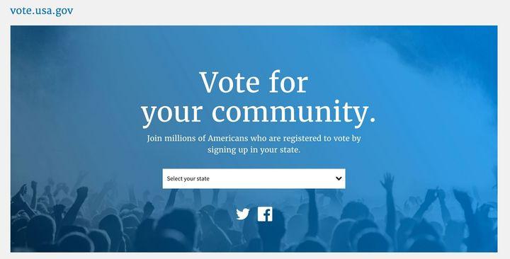 "Example of new Web design standards applied at<a href=""http://vote.usa.gov"">vote.usa.gov</a>"