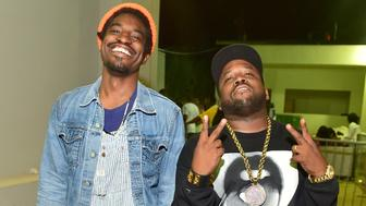 ATLANTA, GA - JUNE 20:  Andre 3000 and Big Boi of the Group Outkast attend at Compound on June 20, 2015 in Atlanta, Georgia.  (Photo by Prince Williams/WireImage)