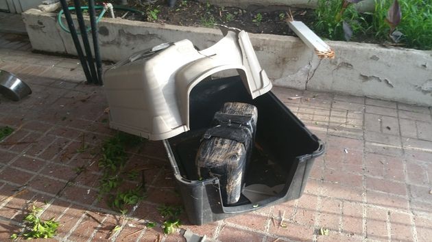 "<span class='image-component__caption' itemprop=""caption"">This photo provided by Nogales Police shows a package containing marijuana that fell through a roof in Nogales, Arizona on Sept. 8, 2015.</span>"