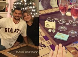 This Man Popped The Question With A Tailor-Made Monopoly Game