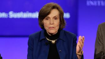 NEW YORK, NY - SEPTEMBER 28: Sylvia Earle, Founder and Chairman, The Sylvia Earle Alliance speaks on stage at the Sustainable Oceans session during the third day of the 2015 Clinton Global Initiative's Annual Meeting at the Sheraton New York Hotel & Towers on September 28, 2015 in New York City.  (Photo by JP Yim/Getty Images)