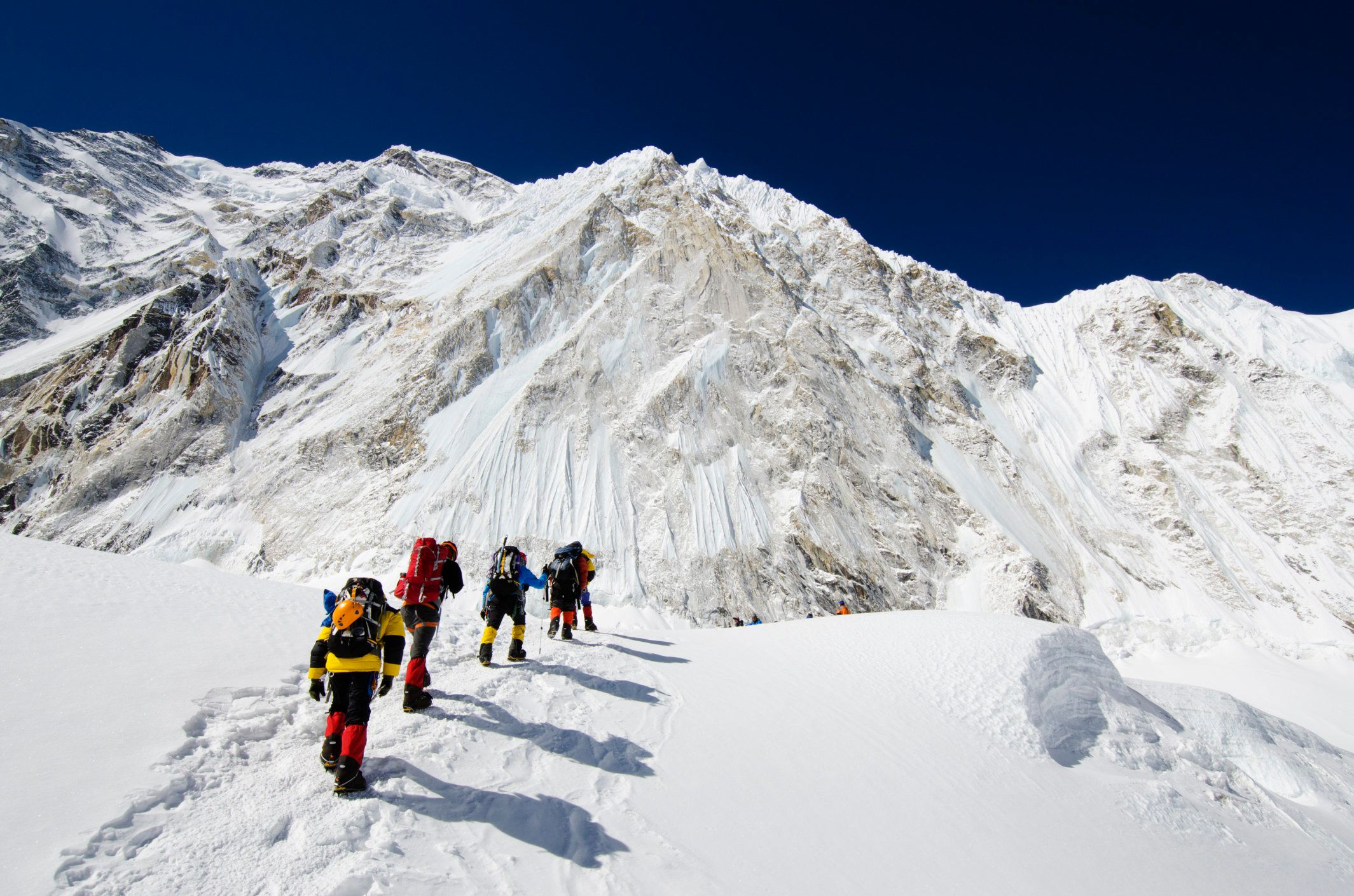 Climbers in the Solu Khumbu Everest region.