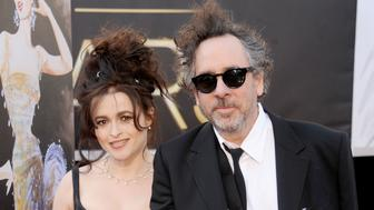 HOLLYWOOD, CA - FEBRUARY 24:  Actress Helena Bonham Carter and director/husband Tim Burton arrive at the Oscars at Hollywood & Highland Center on February 24, 2013 in Hollywood, California.  (Photo by Gregg DeGuire/WireImage)