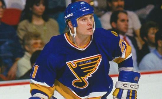 Todd Ewan playing forthe St. Louis Blues.