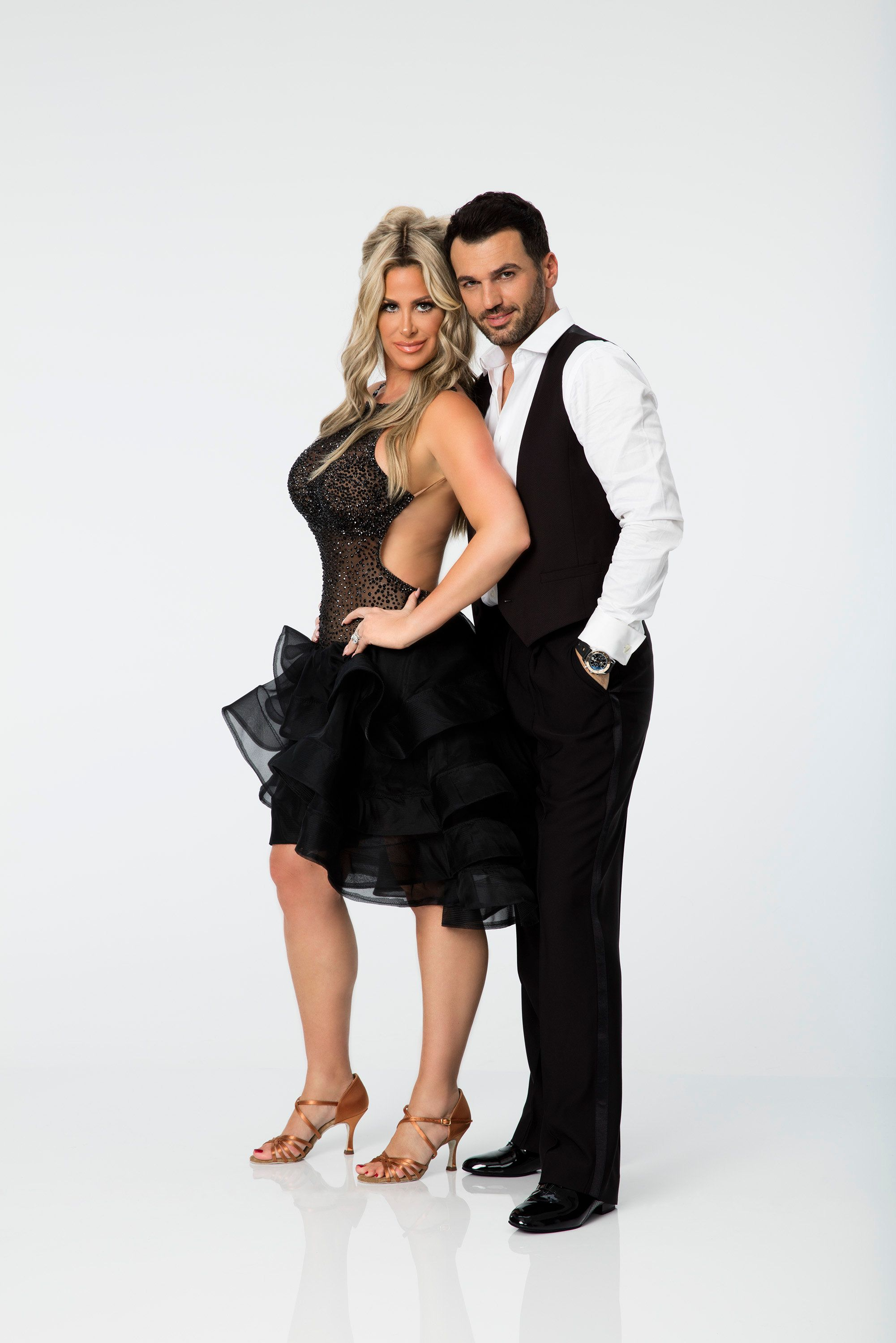 DANCING WITH THE STARS - KIM ZOLCIAK BIERMANN & TONY DOVOLANI - The celebrity cast of 'Dancing with the Stars' is lacing up their ballroom shoes and getting ready for their first dance on MONDAY, SEPTEMBER 14 (8:00-10:01 p.m., ET) on the ABC Television Network. Kim Zolciak Biermann is partnered with Tony Dovolani. (Craig Sjodin/ABC via Getty Images)