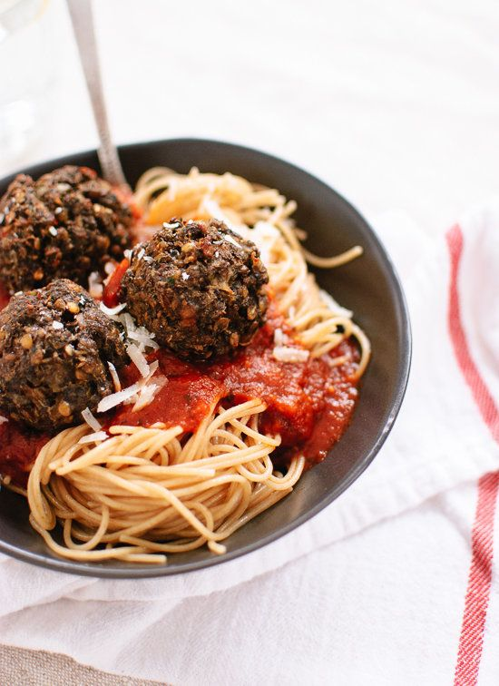 "<strong>Get the <a href=""http://cookieandkate.com/2013/lentil-and-mushroom-meatballs/"" target=""_blank"">Lentil And Mushroom Me"