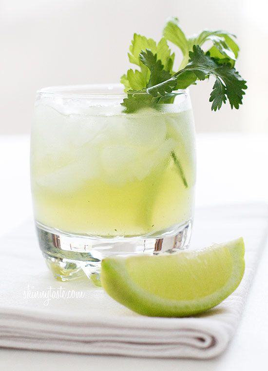 "<strong>Get the <a href=""http://www.skinnytaste.com/2012/04/celery-cilantro-cocktail.html"">Celery Cilantro Cocktail recipe </"