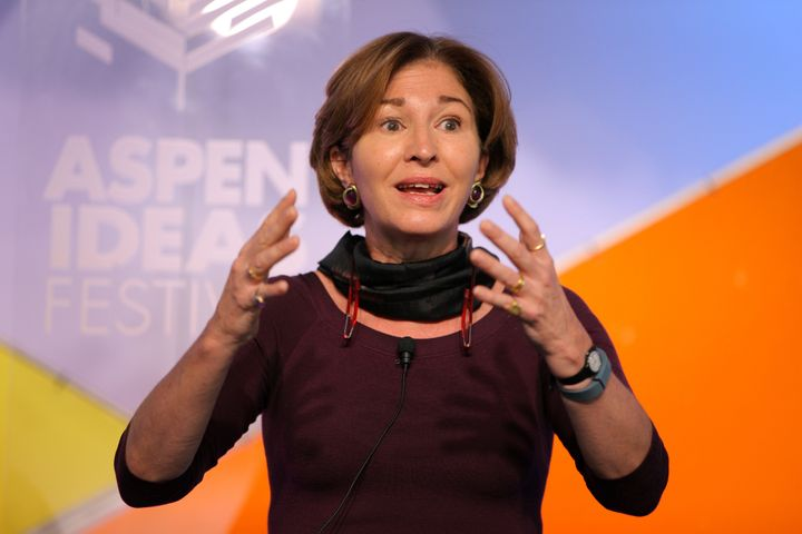 Anne-Marie Slaughter, president and chief executive officer of the New America Foundation, speaks during the Aspen Ideas Fest