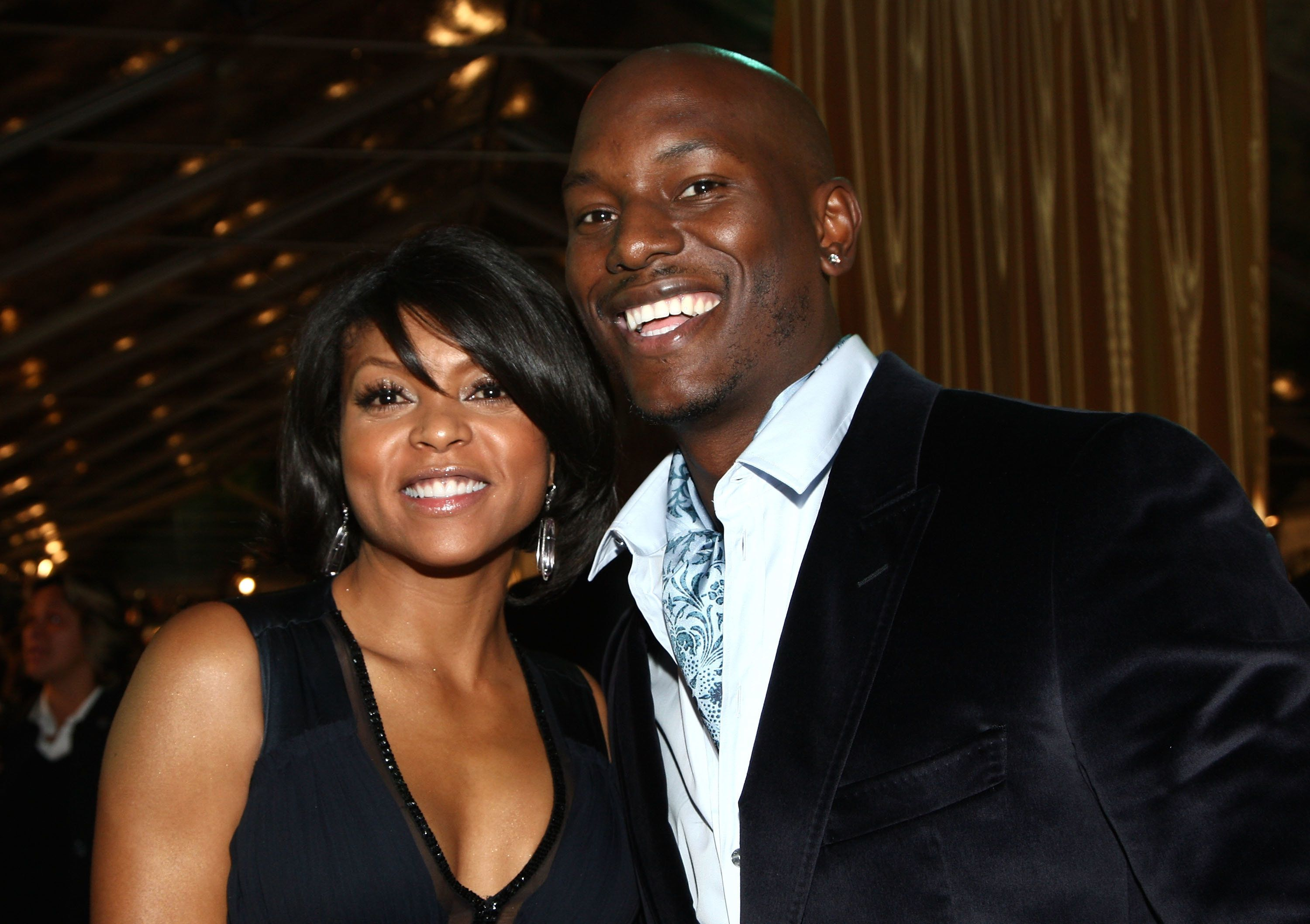 WESTWOOD, CA - DECEMBER 08:  Actress Taraji P. Henson and actor Tyrese Gibson arrive at the premiere of Paramount's 'The Curious Case Of Benjamin Button' held at Mann's Village Theatre on Decemeber 8, 2008 in Westwood, California.  (Photo by Alberto E. Rodriguez/Getty Images)
