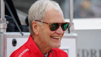 INDIANAPOLIS, IN - MAY 24: David Letterman attends the Indy 500 on May 23, 2015 in Indianapolis, Indiana. (Photo by Michael Hickey/Getty Images)