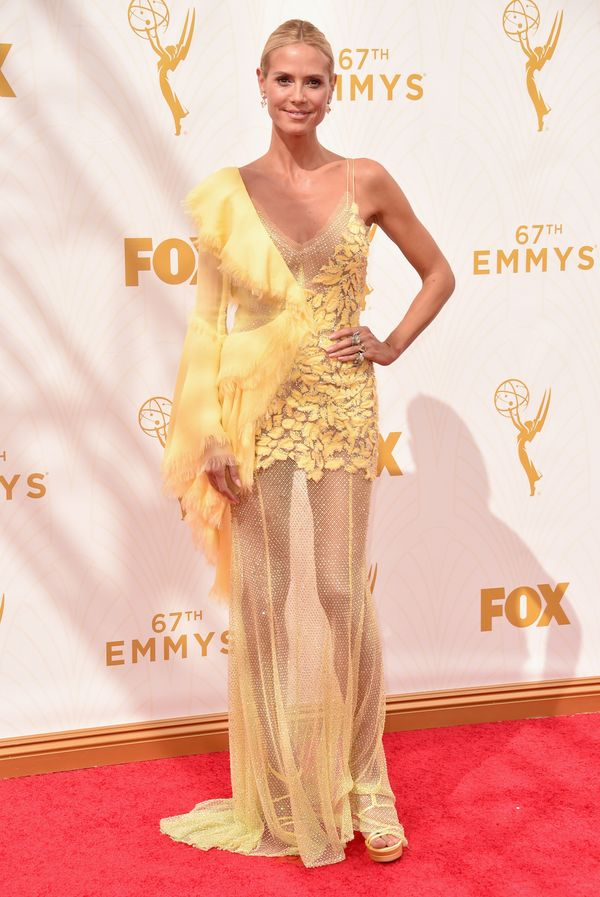 At theEmmy Awards in Los Angeles.