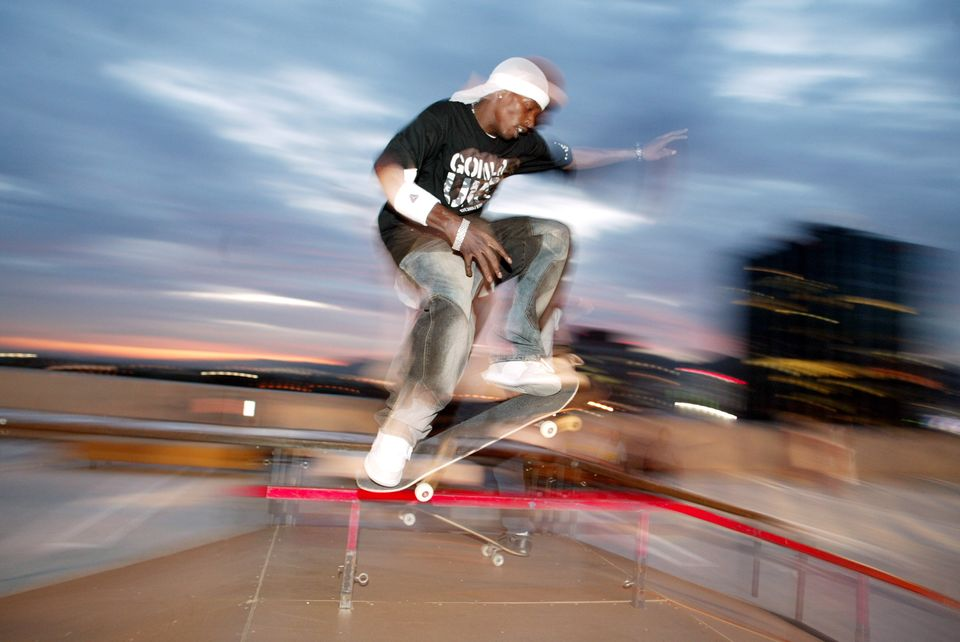 Kareem Campbell, Professional Skateboarder from New York, NY (Photo by Chris Polk/FilmMagic)