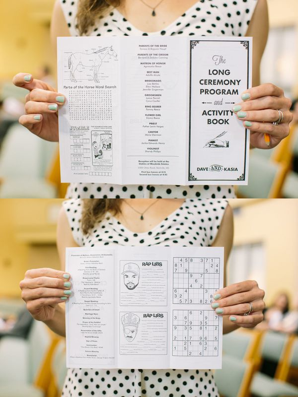 Sudoku and gangsta mad libs will keep your peeps entertained.