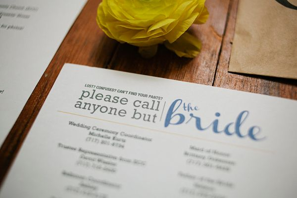 Create A Phone List With Important Numbers To Keep You ~stress Free~ On The  Big Day
