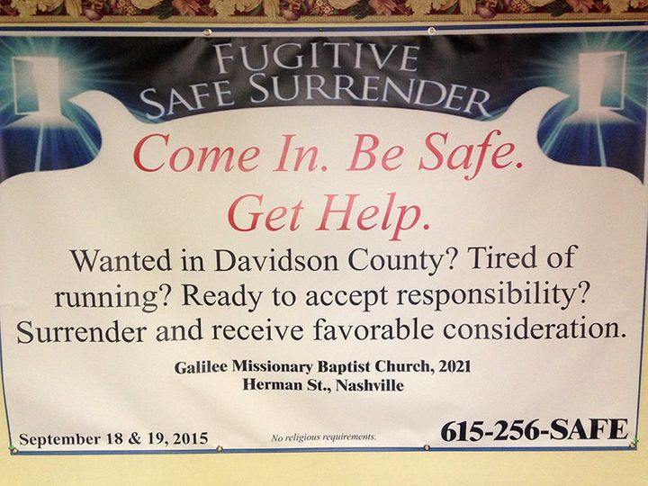 Churches Offer Fugitives Running From The Law A Safe Place To