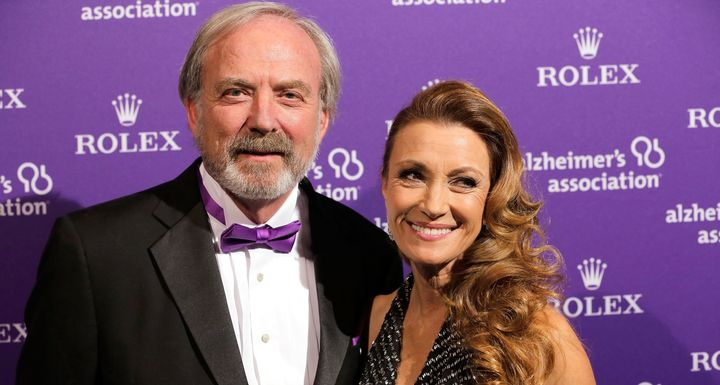 Jane Seymour and ex-husband James Keach atthe 2012 Alzheimer Association Rita Hayworth Gala