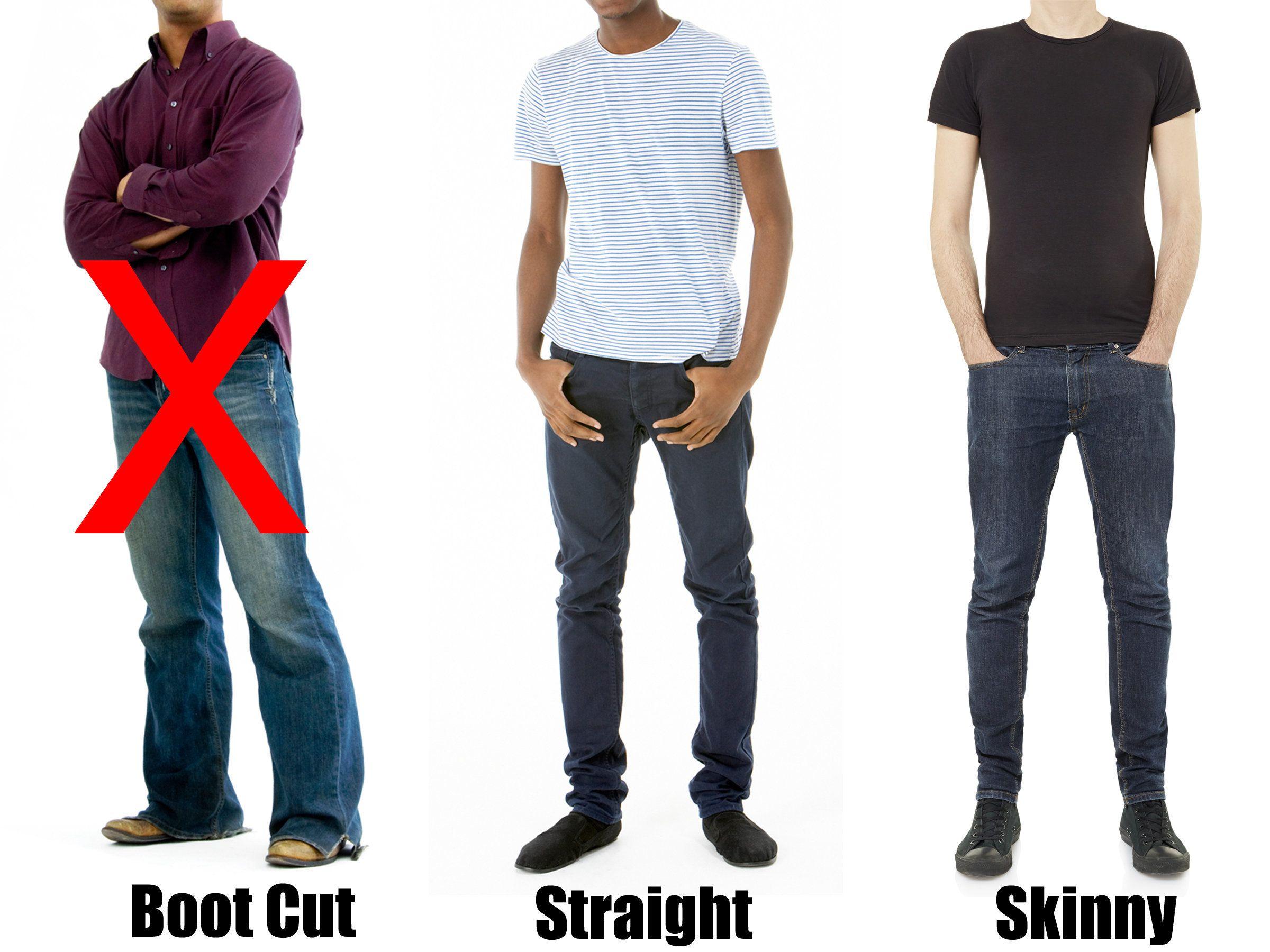 Skinny jeans don't look good on me