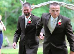 Bride's Dad Stops Wedding So Stepdad Can Walk Down The Aisle Too