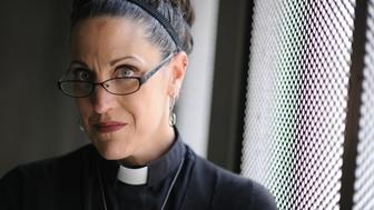 Nadia Bolz-Weber, Thursday, April 7, 2011, is a rising star in the emergent church, very hip culturally and socially progressive, yet still theologically traditional Lutheran. She's been invited to preach the Easter sermon at Red Rocks this Easter. RJ Sangosti, The Denver Post  (Photo By RJ Sangosti/The Denver Post via Getty Images)