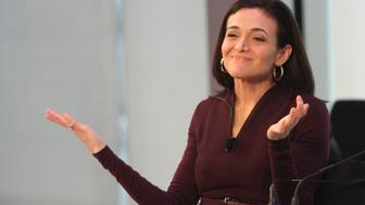 NEW YORK, NY - SEPTEMBER 29:  Chief Operating Officer at Facebook Sheryl Sandberg  speaks onstage at the Connecting in a Mobile World panel presented by Facebook during Advertising Week 2015 AWXII at the Times Center Stage on September 29, 2015 in New York City.  (Photo by Laura Cavanaugh/Getty Images for AWXII)