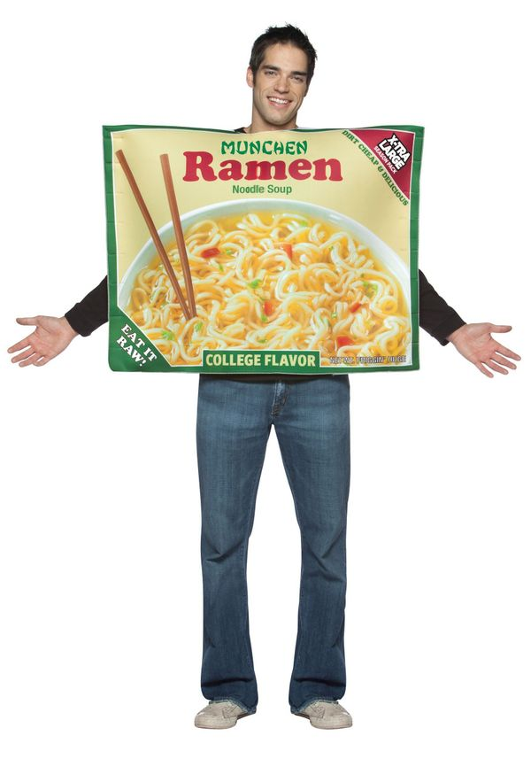 You are what you eat, and in college that means ramen noodles and cheap beer. So when you show up at the Halloween party in <