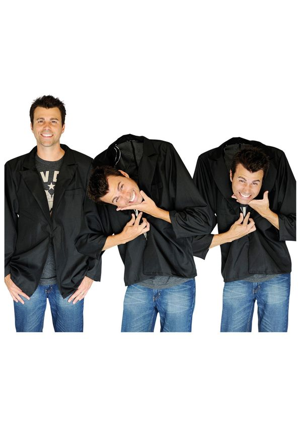 "This jacket looks like a normal tacky blazer, but it's not. It's a <a href=""http://www.halloweencostumes.com/falling-head-ill"