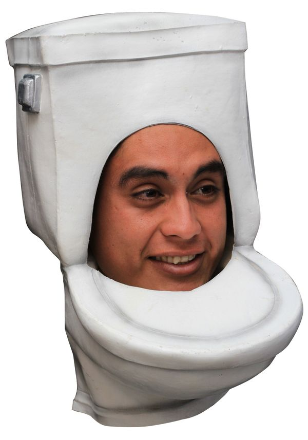 "Feeling flush? Maybe a little down in the dumps? Have we got <a href=""http://www.halloweencostumes.com/the-toilet-adult-mask."
