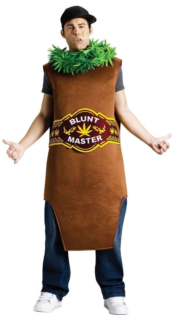 "Where is the Halloween party? Anywhere the <a href=""http://www.buycostumes.com/p/808307/adult-blunt-master-costume"" target=""_"