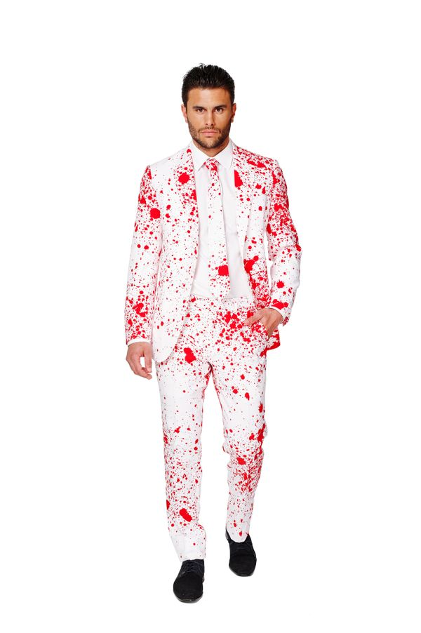 "Want to go out on Halloween in style? Serial killer style? How about this suit that is already <a href=""http://www.dobell.com"