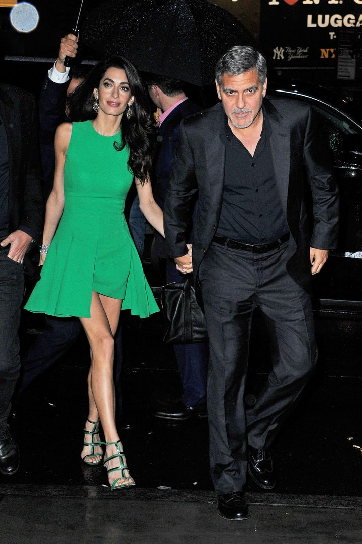 Amal Clooney Stuns In Perfectly Formfitting Versace Dress