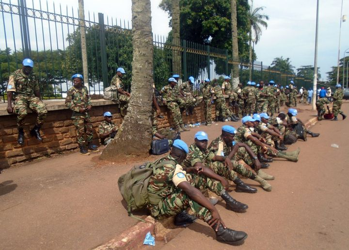 Soldiers from Cameroon serving in the Central African Republic demanded better pay and benefits on Sept. 9, 2015, in Yaounde,