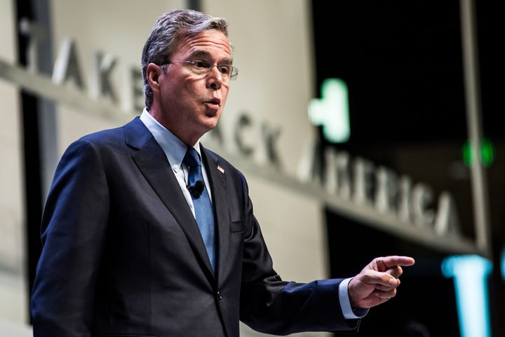 """""""It's a sport, for crying out loud. It's a football team,"""" said GOP presidential candidate Jeb Bush when asked fo"""