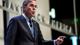 GREENVILLE, SC - SEPTEMBER 18:   Former Florida Governor and republican presidential candidate Jeb Bush speaks to voters at the Heritage Action Presidential Candidate Forum September 18, 2015 in Greenville, South Carolina. Eleven republican candidates each had twenty five minutes to talk to voters Friday at the Bons Secours Wellness arena in the upstate of South Carolina. (Photo by Sean Rayford/Getty Images)
