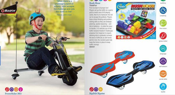 My son has more accomplishments than failures! Here he is in the current Toys R Us catalog (and look for him in the Christmas