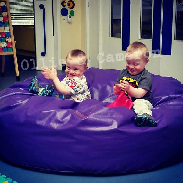 I have 2-year-old identical twins with Down syndrome. I wish people could look at my boys and see two little boys rather than