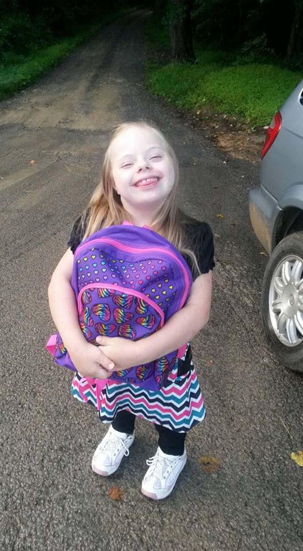 Don't underestimate her just because she happens to have Down syndrome. Cheyenne is very smart and can remember things that y