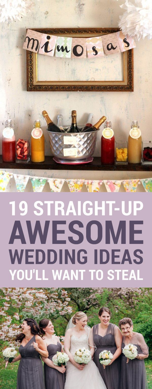 Perfect 19 Straight Up Awesome Wedding Ideas Youu0027ll Wish You Thought Of First |  HuffPost