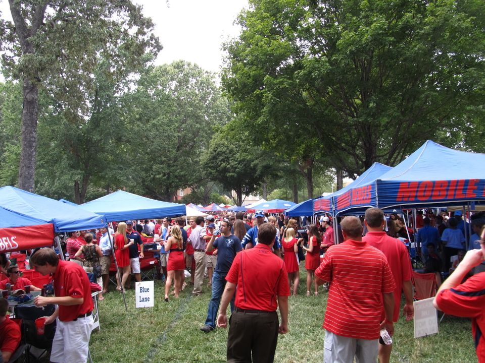 The Grove is the legendary tailgating area located at the center of the University of Mississippi (Ole Miss) campus. It is ap