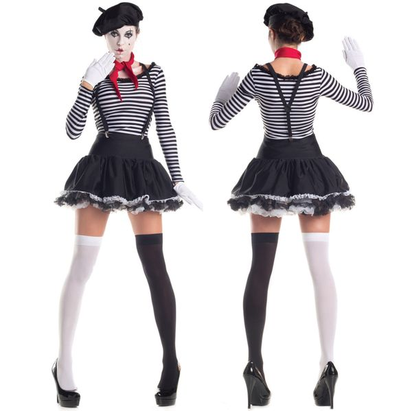 "via&nbsp;<a href=""http://www.ebay.com/itm/Sexy-Womens-Black-Stripe-Mesmerizing-Mime-Hottie-Outfit-Halloween-Costume-/28169940"