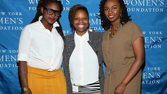 NEW YORK, NY - MAY 14:  (L-R) CWB honorees Alicia Garza, Patrisse Cullors and Opal Tometi attend The New York Women's Foundation Celebrating Women Breakfast at Marriott Marquis Hotel on May 14, 2015 in New York City.  (Photo by Jemal Countess/Getty Images for The New York Women's Foundation)