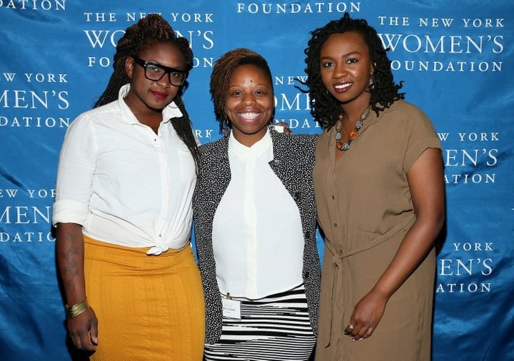 Black Lives Matter co-founders Alicia Garza, Patrisse Cullors and Opal Tometi attend The New York Women's Foundation Cel