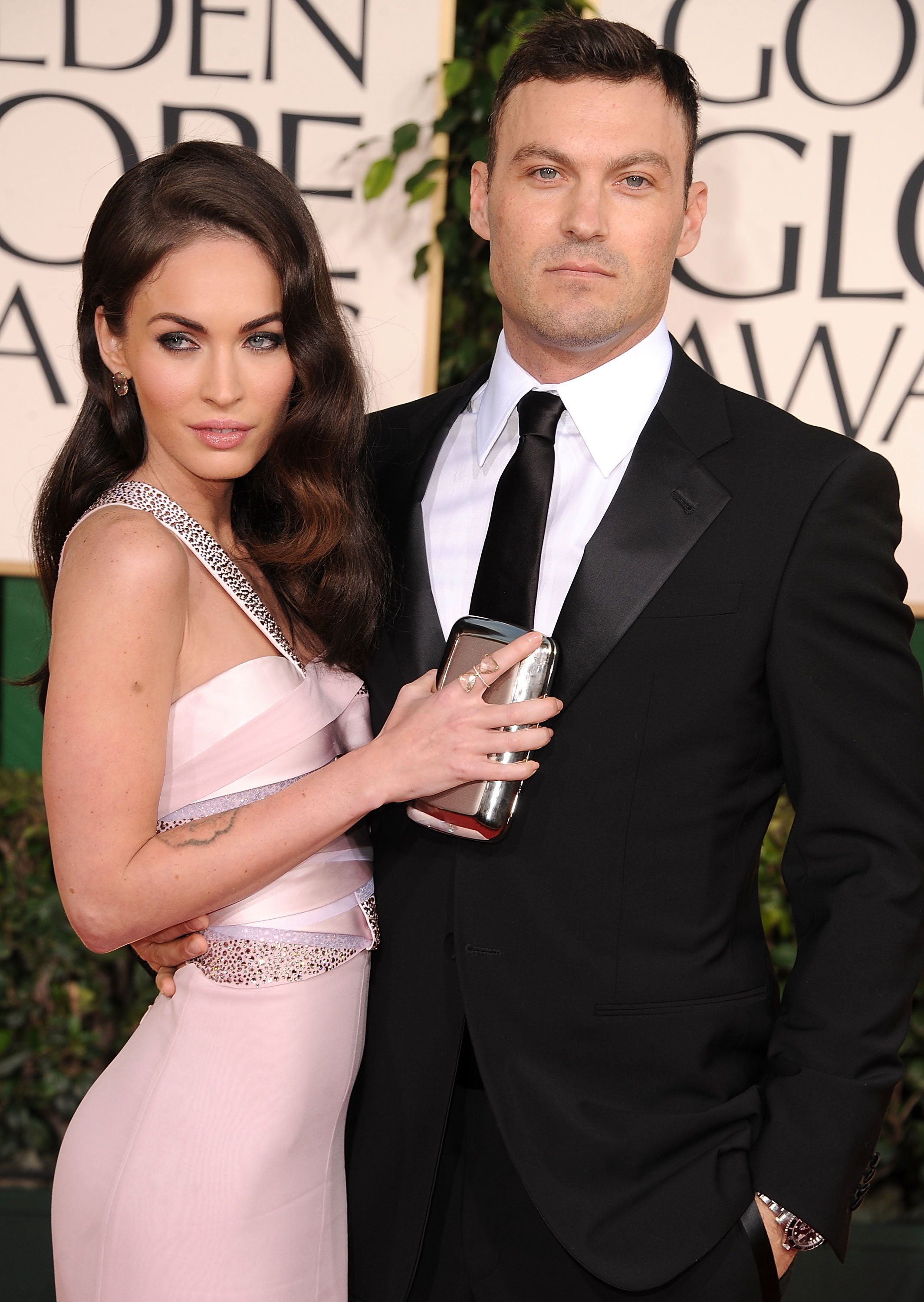 BEVERLY HILLS, CA - JANUARY 16:  Megan Fox and Brian Austin Green attends the 68th Annual Golden Globe Awards at The Beverly Hilton hotel on January 16, 2011 in Beverly Hills, California.  (Photo by Steve Granitz/WireImage)