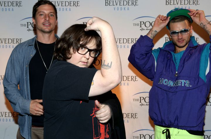 Milonakis with his hip-hop group Three Loco in 2013.