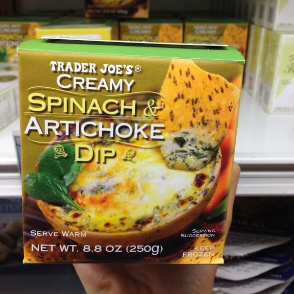"""""""It's cheesy, perfectly seasoned, actually has real pieces of artichoke in it, and will completely satisfy any last-minute vi"""