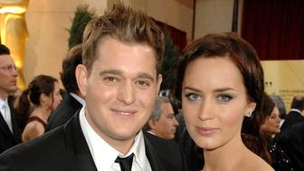 Michael Buble and Emily Blunt during The 79th Annual Academy Awards - Arrivals at Kodak Theatre in Hollywood, California, United States. (Photo by Jeff Kravitz/FilmMagic, Inc)