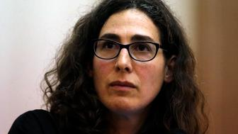 BOSTON - MARCH 29: Sarah Koenig, producer and host of the podcast Serial speaks at Boston University's 'Power of Narrative' conference in Boston Massachusetts March 29, 2015. (Photo by Jessica Rinaldi/The Boston Globe via Getty Images)
