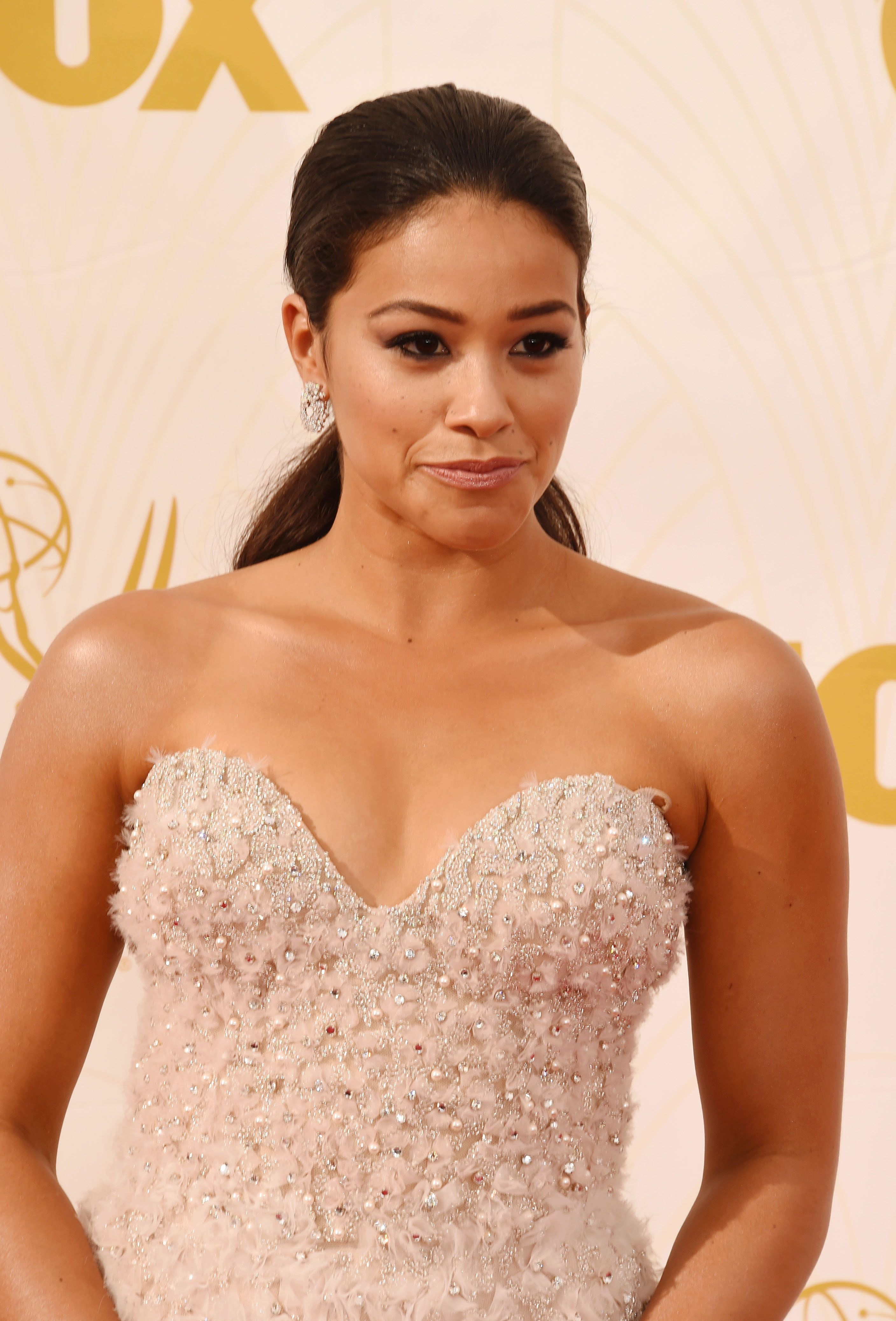 LOS ANGELES, CA - SEPTEMBER 20: Actress Gina Rodriguez attends the 67th Annual Primetime Emmy Awards at Microsoft Theater on September 20, 2015 in Los Angeles, California.(Photo by Jeffrey Mayer/WireImage)